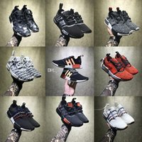 Wholesale Hongkong Shoes - Perfect Boost NMD Shoes Red Apple HongKong Vlone Black Zebra NMD R1 Real Boost Men Women Running Shoes Sports Sneakers size 36-45