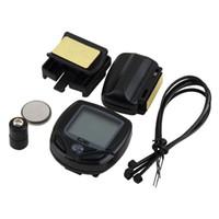Wholesale Digital Speedometer For Bikes - Bicycle Meter Speedometer Wireless digital LCD Cycle Computer Bicycle Odometer For Bike Drop