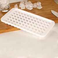 Wholesale Ice Drink Maker - 1pc Ice Ball Cube Maker 72cells White Ice Cube Tray Molds For Home Kitchen DIY Ice Cold Drinks