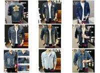 Wholesale Waist Fur Vests - Freeshipping Men's Hoodie Jeans Jacket coat outerwear hooded Winter coat hoodie denim jacket coat c