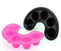 Wholesale Nail Soak Tray - Nail Bubble Bath Spa Bowl Black Nail Soak Off Tray Nail Polish Remover Tool Fedex TNT UPS SF Free Shipping