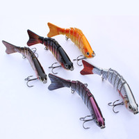 Wholesale Multi Jointed Fishing Lures - 5Pcs lot 10Cm 12.5G Popular Fishing Lure Multi Jointed Swim Bait Lifelike Hard Fish Bait Artificial Crankbait Tackle Mml01