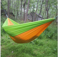 Wholesale Toy Hammocks Wholesale - 2016 Hot Selling Portable Parachute Travel Camping Hammock with Tree Straps Garden kids toy hammock Chair swing bed