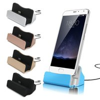 android-handy-ladestation großhandel-Universal Micro Typ C Dock Ladestation Ladestation für Samsung Galaxy s4 s6 s7 s8 HTC Android-Handy