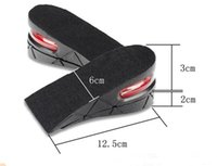 Wholesale Insoles 5cm - Wholesale New 5CM Height Air Cushion PU Adjustable Increase Insole Insoles For Men Women Pack free shipping