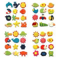 Wholesale Educational Fridge Magnets - Baby Kid Wooden Magnet Educational Toy Kitchen Fridge Cartoon Funny Gift H1139