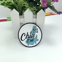 Wholesale Clothes Brand Iron Patches - chill out brand ice cream embroidery patch iron-on Jacket Sticker, Children Clothing DIY 3.1''