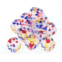 Wholesale Gambling Sets - 20PCS SET,18*18mm Digital Dice Top Quality Acrylic Drinking Dice Entertainment Toy Gambling Dice 6 Sides With Free Shipping