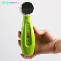 Wholesale Ultrasonic Spot - Portable Green Ultrasound Ultrasonic Skin Care Facial Massager Dark Spots Acne Reduce Skin Rejuvenation 1Mhz Beauty Machine