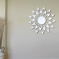 Creativo 27pcs Dom Home Fashion 3D Wall Sticker Mirror senza inquinamento Living Room Divano TV sfondo Decorazione - Argento