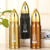 Wholesale Tea Bottle Thermos Flask - 2017 NEWEST 500ml Bullet Stainless Steel Vacuum Cup Tea Coffee Flask Mug Thermos Travel Drink Bottle School Office Travel Drink Bottle