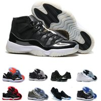 jordan 11 gamma blue shoes achat en gros de-Haute qualité Retro Nike Air Jordan 11 Space Jam Bred Gamma Blue Basketball Shoes Hommes Femmes 11s Concords 72-10 Legend Blue Cool Grey Sneakers