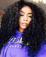 Wholesale natural products for curly hair resale online - Hot product Curly Wig Glueless Lace Front Human Hair Wigs For Black Women Brazilian Hair Loose Wave Lace Front Wig