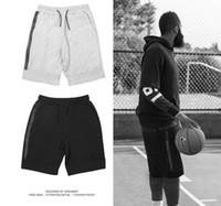 ingrosso pantaloni casual per gli uomini grigi-Pantaloncini sportivi Tech in pile all'ingrosso Tasca con cerniera Pantaloni sportivi Pantaloni casual Grigio Nero S-XL Pantaloncini corti da uomo
