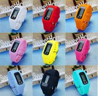 contadores de pasos al por mayor-Digital LCD Podómetro Multi Reloj inteligente de silicona Run Step Walking Distance Calorie Counter Watch Electronic Pulsera Colores Podómetros M0988