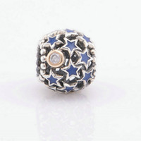 Wholesale European Bead Stardust - stardust beads sterling silver star jewelry fits for pandora style bracelets S925 sterling silver free shipping European hot sale LW412