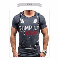 Wholesale mans brand names clothing - Camisetas hombre 2016 Brand Name Clothing Letters Printed Tee T-Shirt Men Casual Cotton Short-Sleeved Tshirt Homme Compression