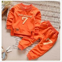 Wholesale Long Warm Sweaters For Kids - 1-5 Autumn Children Clothing Boys Girls Keep Warm Long Sleeve Sweaters+Pants Fashion Kids Clothes Sports Suit for Girls