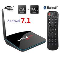 Wholesale Rm Dat - Android 7.1 TV BOX 2GB RAM 16GB ROM M96X Pro Smart TV Box 4K Quad Core Amlogic S905x Ultra HD 1080P with Super Wifi Bluetooth Support HDMI