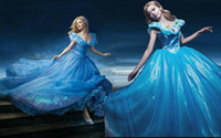 Wholesale Cinderella Costumes Adults - New Cinderella Princess Costume 2015 Cinderella Dress For Adult Women Blue Deluxe Cinderella Cosplay Dresses Costume Customized