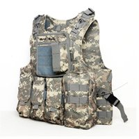 Wholesale Camouflage Hunting Military Tactical Vest Wargame Body Molle Armor Hunting Vest Multifunction CS Outdoor Equipment Colors