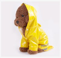 Wholesale Summer Dog Raincoat - 3 Color Hooded Pet Dog PU Reflection Raincoats Waterproof Clothe For Small Dogs Chihuahua Yorkie Dog Rain coat Poncho Puppy Rain Jacket S-XL