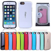 Wholesale Iface Case Bumper - iFace case cover bumper For iPhone 6 6S 5S SE 5C 6 Plus PC TPU Hard Back case with retail pacakge box