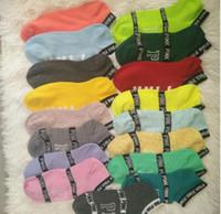 Wholesale cotton crew socks for women - vs love pink Low sock slipper ped socks Stripe Crew Sock girls women Footsocks sneakers pink sock slippers for sport sneaker