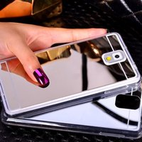 Wholesale Gold Plated S4 - Plating Mirror Soft TPU Back Case Cover For Samsung Galaxy S8 S8 Plus A5 A7 J5 J7 2016 S3 S4 S5 S6 S7 Edge Phone Case A3 A5 2017