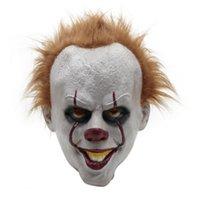 masque joyeux achat en gros de-2017 Chaude Stephen King Masques De Visage Halloween Partie Jolly Masque Masquerade Masques Complets Fête Fête Fournitures Drop Shipping