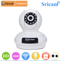 Wholesale Wifi Ip Dome Camera Hd - 2016 new Arrival Sricam SP019 Full HD 1080P 2.0MP Dome IP Camera Wireless Wifi Indoor IR CCTV Camera P2P ONVIF H.264