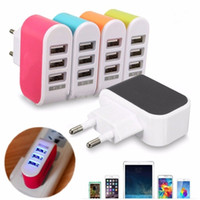 US EU Plug 3 Portas Múltiplas Muralhas USB Carregador Inteligente Adaptador 5V 3.1A LED Travel Power Adapter Carregador Dock Carga Para celular iphone7 on5