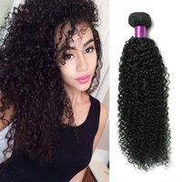 Wholesale indian remy wavy hair weave resale online - Brazilian Kinky Curly Human Hair Brazilian Human Hair Weaves Wavy Kinky Curly Hair Extensions A Remy Brazilina Curly Wefts