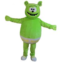 Wholesale Green Adult Mascot Costume - Green Monster Mascot Costumes Cartoon Character Adult Sz 100% Real Picture 002