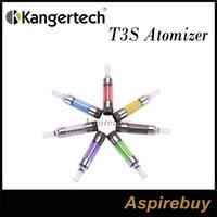 kangertech t3s атомайзер оптовых-100% оригинальный Kanger T3s распылитель T3 танк обновление Clearomizer T3s Картомайзер Kangertech T3S со сменной катушкой Kanger T3s распылитель комплект