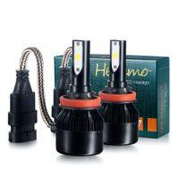 Wholesale Headlamp Bmw - New H8 H9 H11 LED Headlight Chip Auto LED headlamp bulb LED Car Auto headlight Xenon Fog Driving Head Lights h1 h3 9005 9006 H7 hb3