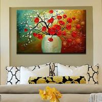 faca de pintura de óleo venda por atacado-100% feito à mão pintura a óleo sobre tela paleta de flor pinturas de decoração moderna pintura de parede da lona retrato da arte