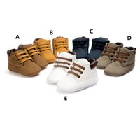 Wholesale Wholesale Leather Shoes Boots - Baby Soft Soled lace up ankle boots Infants pu heudauo Casual Shoes Baby First Walker warm Shoes Toddler Footwear Infant Winter Boots