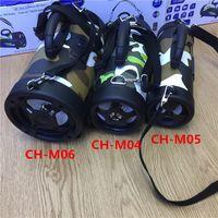 Wholesale Super Flash Lights - NEW CH-M04 Bluetooth speaker LED flashing lights camouflage wireless portable mini stereo super brass FM radio TF USB