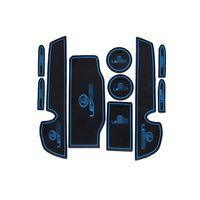 Wholesale Car Cup Holder Door - 10pcs Non-Slip Rubber Interior Car Door Armrest Storage Panel Mat Cup Holder Slot Pad Cover Sticker For Lexus IS250 IS300h IS350 2013-2014