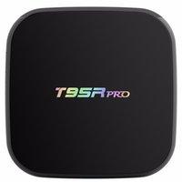 caja de tv android ethernet al por mayor-Auténtico Android 7.1 S912 TV Box T95R pro 2 gb 16 gb Gigabit Ethernet 5 G AC WiFi BT4.0 3D Octa Core 4K TV Boxes