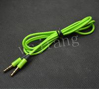 nota de audio al por mayor-Cable de conexión de audio Cable de buena calidad colordul aux cable de 3,5 mm cable de audio auxiliar de uso general para samsung S4 note 3 htc