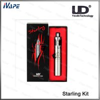 Wholesale Smart Light Kit - 100% Original UD Youde Starling Kit 1500mah 25W Starling Box Mod Battery With 2ml Top Filling Starling Tank Bottom LED Smart Lighting