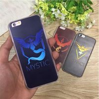 Cartoon Poke Mon Go mostro tascabile team Valor Mystic Instinct TPU duri casi copre per iPhone 5 5S 6 6S 7 Plus