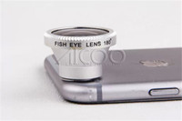 Wholesale Iphone Magnetic Lens - Magnetic 180Degree Cell Phone fish eye camera photo Lens for iPhone SE 5 5S 6 6S Plus Samsung Galaxy S7 S6 Edge Plus fisheye