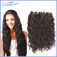 "Wholesale Natural Wave Peruvian Virgin Hair - 8A Peruvian Virgin Hair Natural Wave More Wave 3Pieces Lot Unprocessed Peruvian Human Hair Full Bundle Water Wave Natural Color Hair 10""~28"""