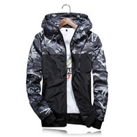 Wholesale Casual Male Camouflage Vest - 2017 Camouflage Men Coat Men's Hoodies Casual Jacket Brand Clothing Man Windproof Coats Male Outwear M-5XL