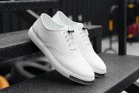 Wholesale Men Canvas Shoe Wholesale - Mens Shoes Casual PU Leather white black Canvas Shoes Breathable Slip on Shoes Sports Shoes