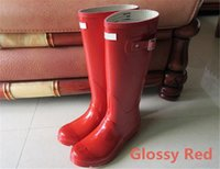 Outdoor Women Rainshoes Wellies Wellingtons Hunter Boots Rain Gules Welly Waterproof Knee Rainboots Rain Boots Glossy Matte Shoes Galoshes