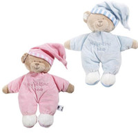 Wholesale Girl Sweet Teddy Bear - Unique Gifts high quality Sweet Cute Girls ToysFree shipping baby toys appease baby to sleep plush doll bear doll baby doll